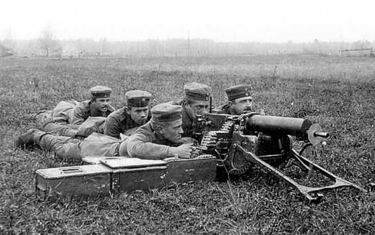 The Jääkärit (Finnish Jaegers) and their place in the Finnish Army (Finnish Volunteers training with a machinegun at Lockstedt) - from http://www.alternativefinland.com/the-jaakarit-and-their-place-in-the-finnish-army/