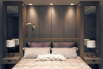 Built-In Bed with Upholstered Panels - modern - beds - new york - Aguirre Design