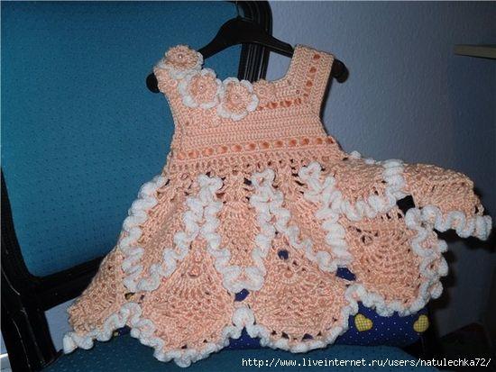 .: Craft, Crochet Dresses, Bebe, Crochet Baby, Baby Clothes, Girl Dresses, Girls Dresses, Baby Crochet, Baby Dresses