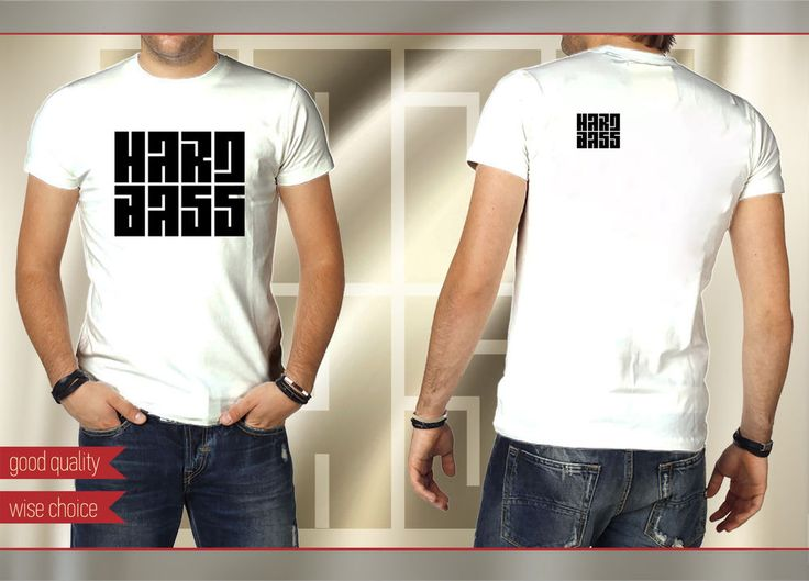 HARD BASS Music Fans T-shirt  COLOR: White Size S-XXL HB601 #SOLS #HARDBASS