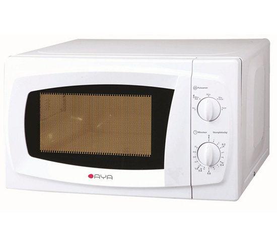 four micro ondes mono aya mo 22 al blanc deco kitchen. Black Bedroom Furniture Sets. Home Design Ideas
