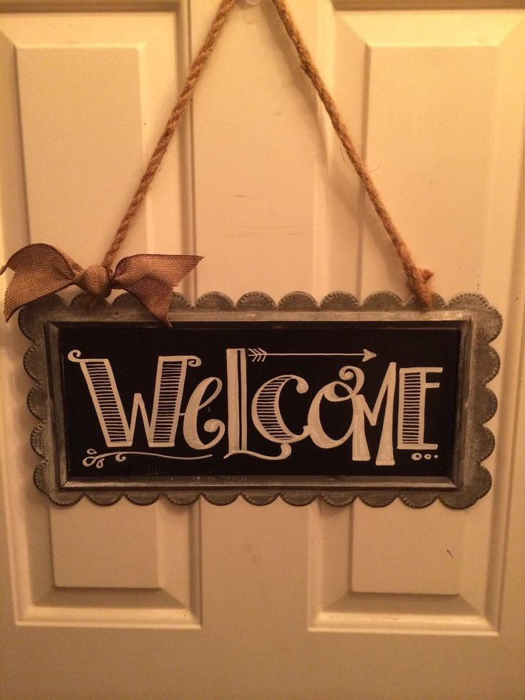 Chalkboard welcome