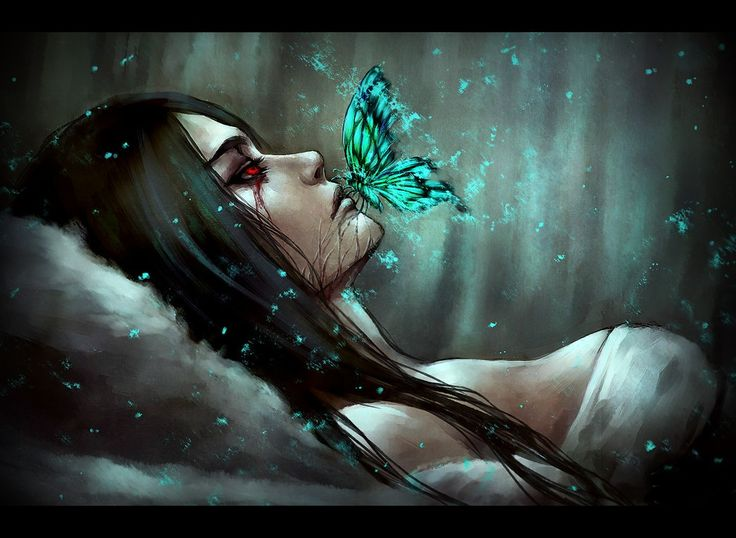 Mistress of Pain Alice: Madness Returns Asylum, blue butterfly