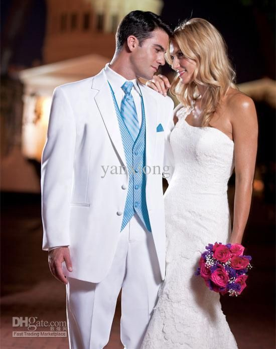 Cool summer suit for wedding dress of groom