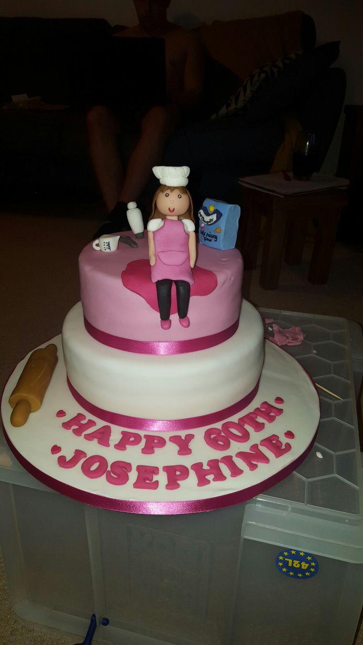 60th birthday cake baking theme
