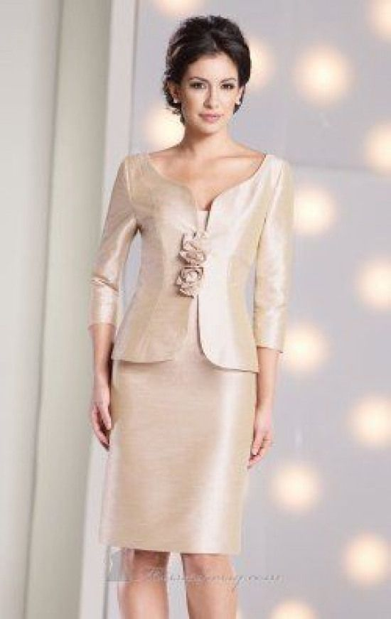Strapless Curved Neckline Shantung Dress by Social ...