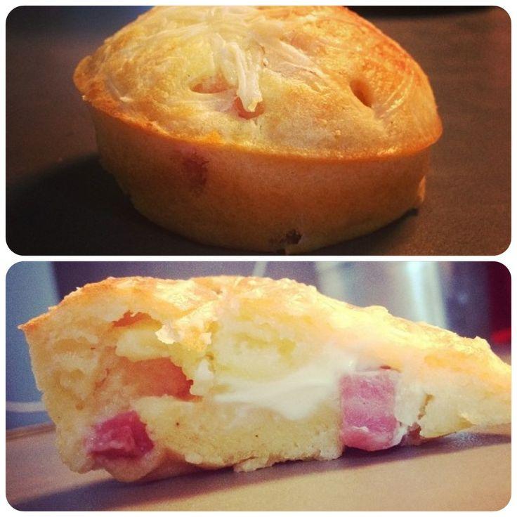 Recette de muffin au jambon et au kiri