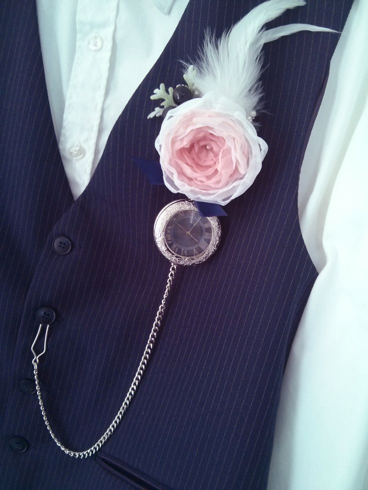 vintage pocket watch boutonnière - Google Search