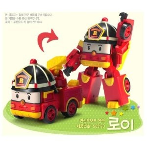 Robocar Poli -Korean Made TV Animation Toy-Fire Engine- Roi/Roy (Transformer):