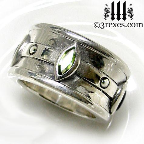 3 Rexes Jewelry - Moorish Marquise Wedding Ring (http://www.3rexes.com/moorish-marquise-wedding-ring/) #mensrings