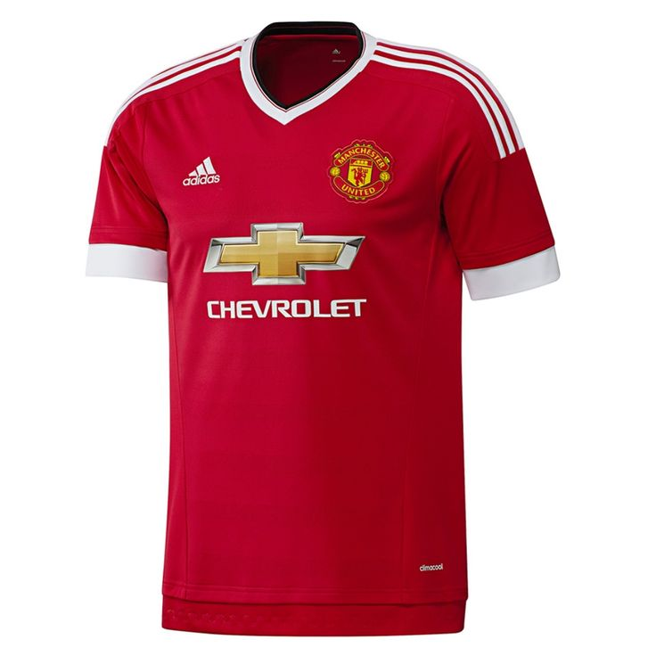 2015-16 Show off your favorite team with the new Adidas Manchester United home jersey. Get Rooney, Memphis Depay, Schweinsteiger or your favorite player's name on the back. Order your Man United jersey today at SoccerCorner.com  http://www.soccercorner.com/Adidas-Manchester-United-Home-15-16-Soccer-Jerse-p/tt-adac1414.htm