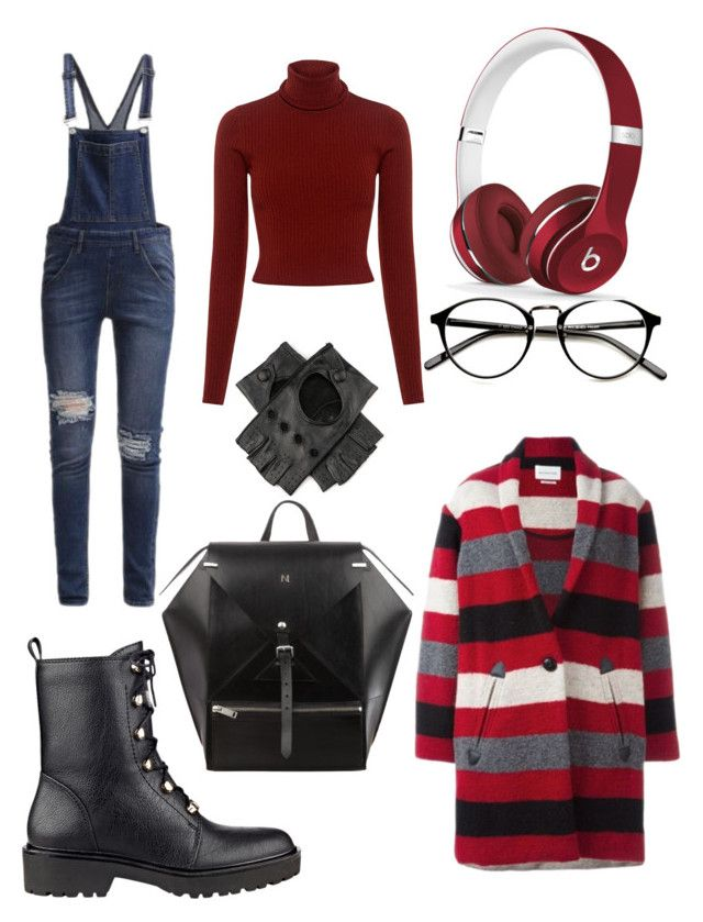 Walking down the street by elenazaharia on Polyvore featuring polyvore, fashion, style, A.L.C., Étoile Isabel Marant, Cheap Monday, GUESS, Beats by Dr. Dre, Black and clothing