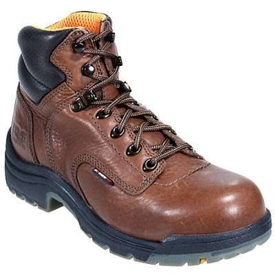 Timberland pro womens titan 26388 brown alloy toe boots in Women Steel Toe Boots