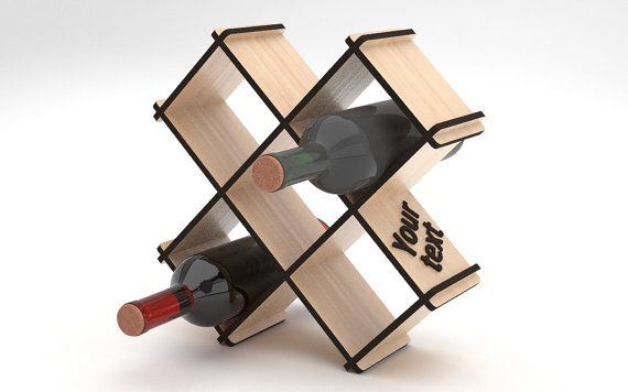 Personalized Wine Rack 113 by VigoDesigns on Etsy