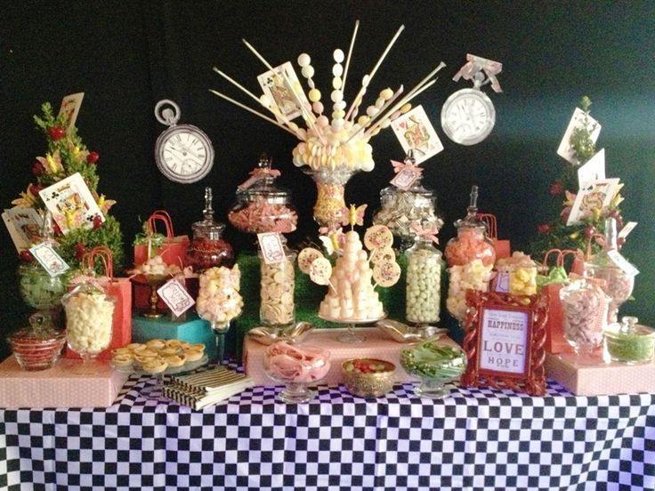Wedding buffets for the sweet toothed - Alice in Wonderland theme