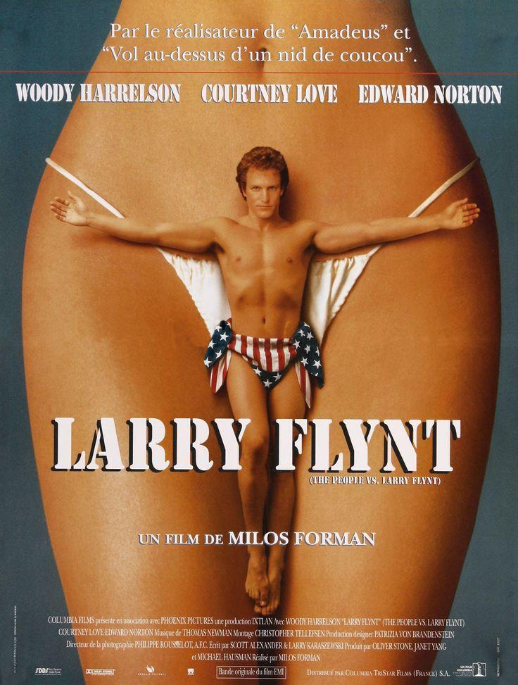 French movie poster, 'The People vs. Larry  Flynt', Miloš Forman, 1996