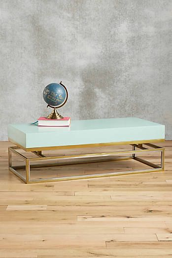 Lacquered Rectangular Coffee Table Not for your office.  For your living room.  Pleeeeeasseee???