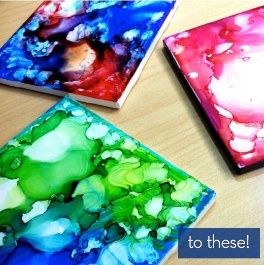Sharpies + Alcohol + Ceramic Tiles = DIY Coasters » Curbly | DIY Design Community