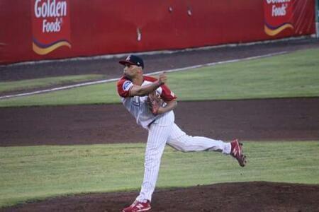 Veracruz, Ver.- 5 de julio del 2017.- José Miguel Piña lanzó gran pelota de cinco hits durante siete entradas con dos bases, tres ponches y ...