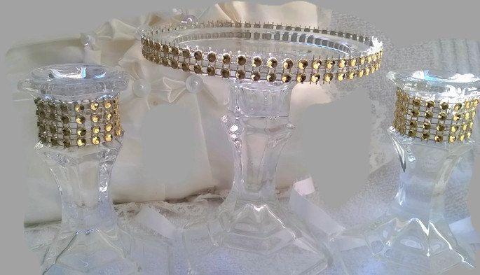 unity candle holder -  unity candle -  wedding centerpiece -  ceremony - candle holer - bling wedding - gold candle holder by 1DesignCrafts on Etsy https://www.etsy.com/listing/225561549/unity-candle-holder-unity-candle-wedding