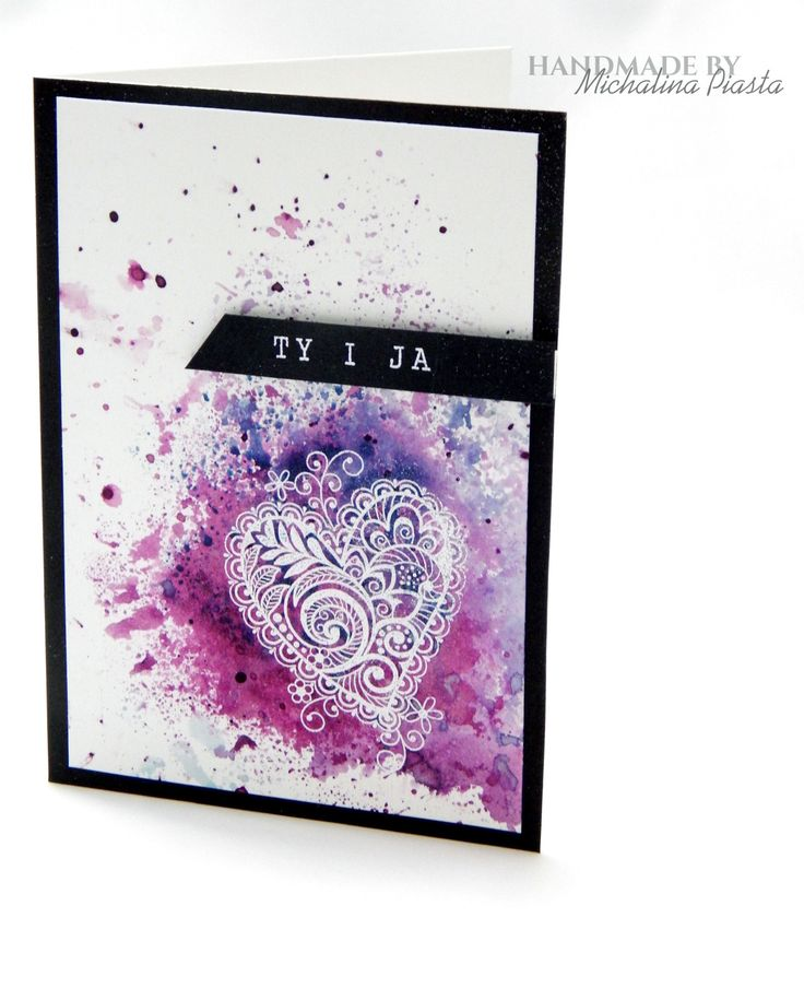 You and Me, distress inks and white heat embossing