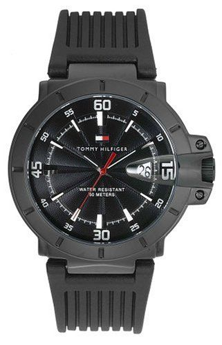 Tommy Hilfiger Men's 1790525 Black Rubber Watch * See this great watch.