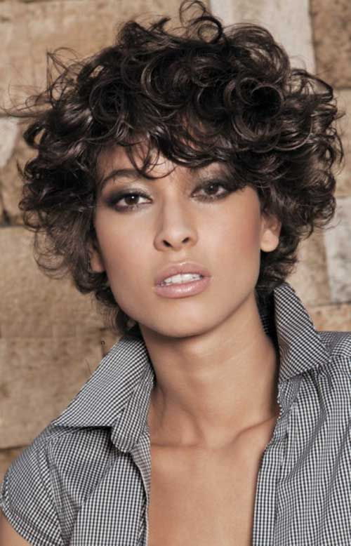 short layered large curly hairstyles | 20 Most Beautiful Short Curly Hairstyles …