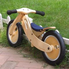 Немецкие автомобили малыша Деревянный велосипед баланса деревянный автомобиль автомобиля оригинальные немецкие коляски детские в