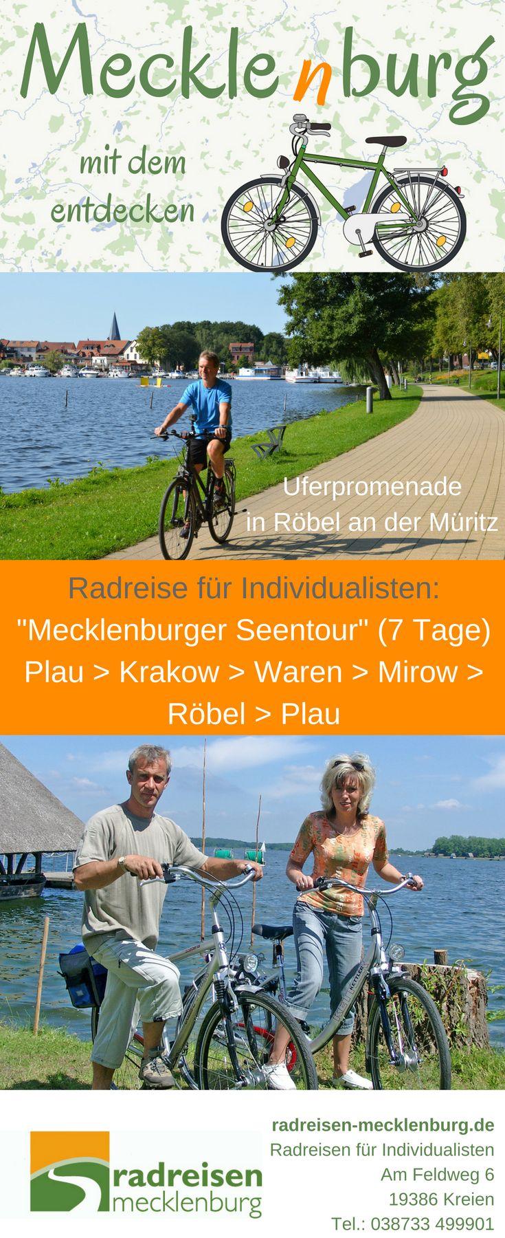 Die kleine Fischerstadt Röbel liegt direkt an Mecklenburgs kleinem Meer und ist ein Etappenort dieser Radreise. https://radreisen-mecklenburg.de/radrundreisen/mecklenburger-seentour/