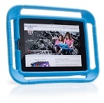 BLUE - Gripcase for iPad 2nd, 3rd, and 4th Gen ($39.99)  Fantastic case.  It's extremely lightweight, protective, and so easy to carry and hold.  I have this on my personal iPad! Comes in different colors and is also available for iPad 1. The edges are angled inward, so the screen doesn't hit the ground if dropped. The case has crumple zones that absorb the impact if the iPad or iPad mini is dropped or hits something.