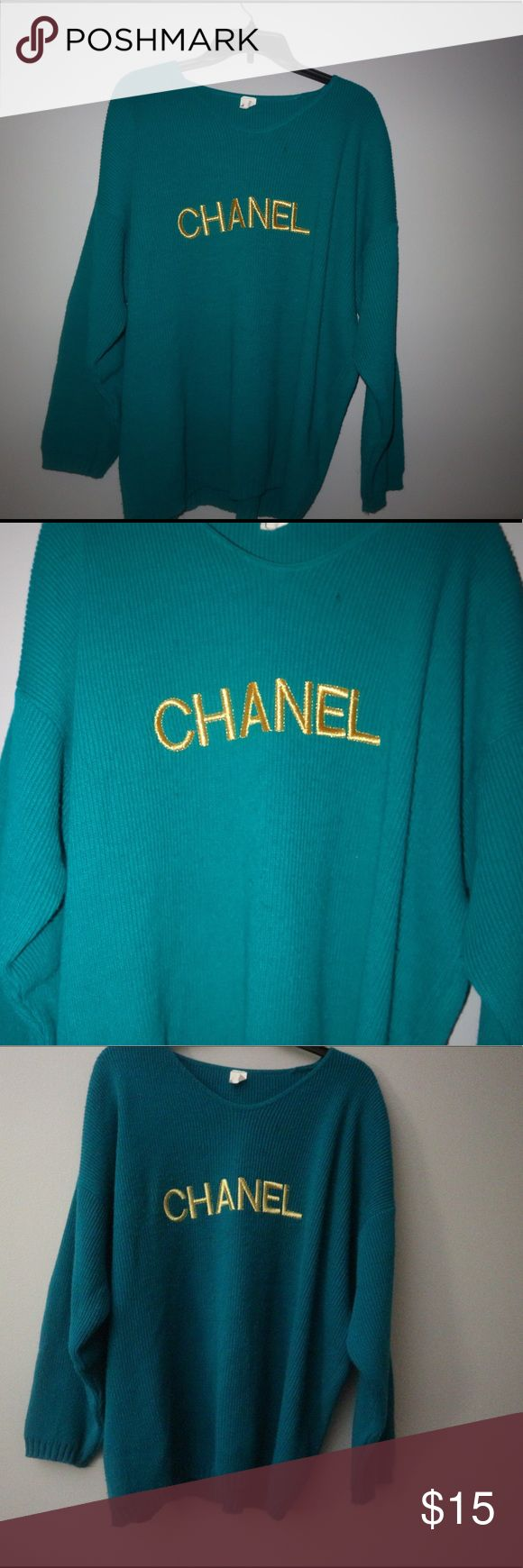 Vintage Chanel Sweater Vintage Chanel sweater. I'm not sure if it's real or not but I know it's vintage Sweaters