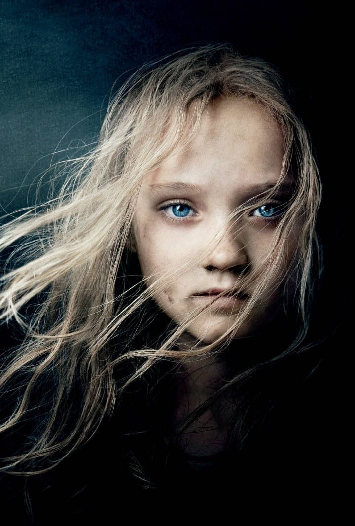 Dakota Fanning in Les Misérables by Annie Leibovitz - beautiful eyes and hair shows movement
