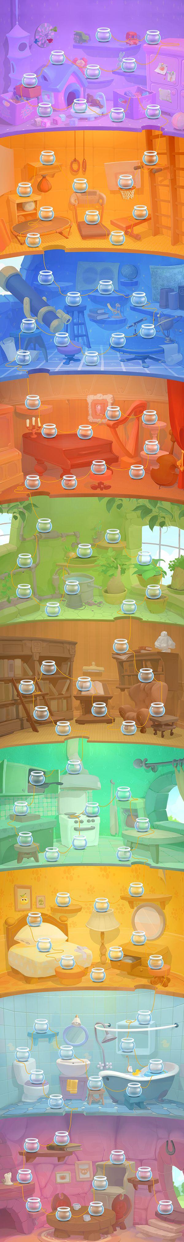 #карта #уровней #банка Fruity jam adventures on Behance