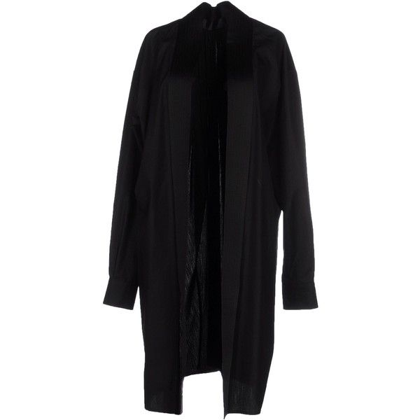 Haider Ackermann Full-length Jacket ($905) ❤ liked on Polyvore featuring outerwear, jackets, black, full length jacket, haider ackermann and single breasted jacket