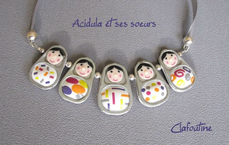 How sweet are these polymer clay and pop tab people? Acudula-et-ses-soeurs