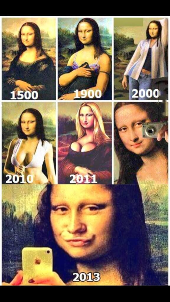Mona Lisa #selfie