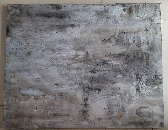 Bild Acryl Malerei Strukturen abstrakt modern scarred Grey Spachtel GRAU Kratzer Schwarz 100 x 80 Beton Leinwand Canvas