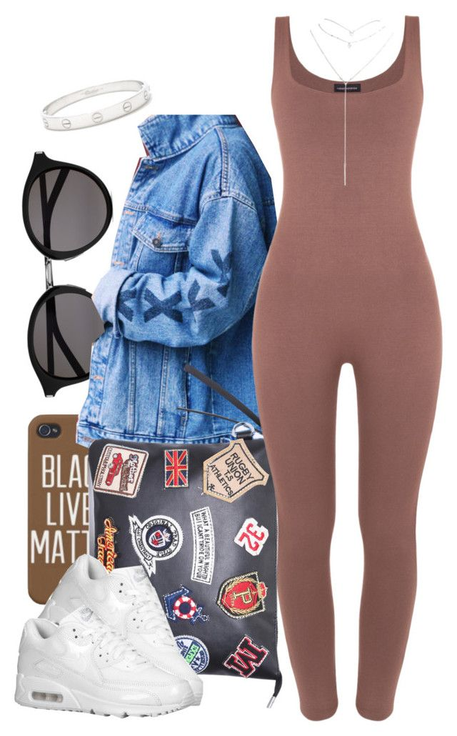 """Untitled #858"" by cjasmyne ❤ liked on Polyvore featuring Yves Saint Laurent, NIKE, Wet Seal and Cartier"