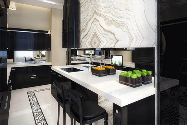 Tamaño y color de cubierta de cocina
