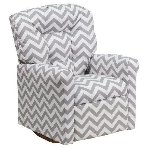 Amazon.com - Flash Furniture Kids Zig Zag Fabric Rocker Recliner, Gray - Toddler Sofa