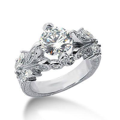 Diamond Engagement Ring With Diamond Band