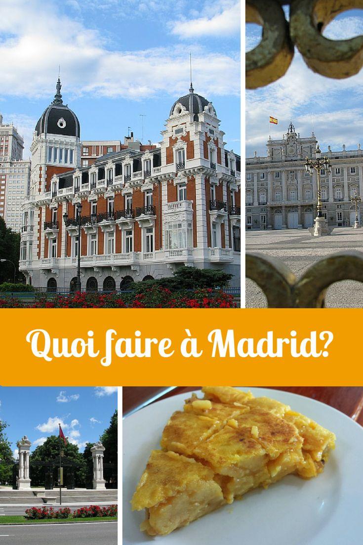Madrid est une métropole grouillante et pleine de vie! Quoi faire à Madrid? Il y a tellement de possibilités. Voici mon palmarès des top choses à voir et à faire dans cette ville d'Espagne!