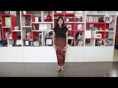 Tutorial Kain Batik: 1 Kain, 3 Gaya - YouTube