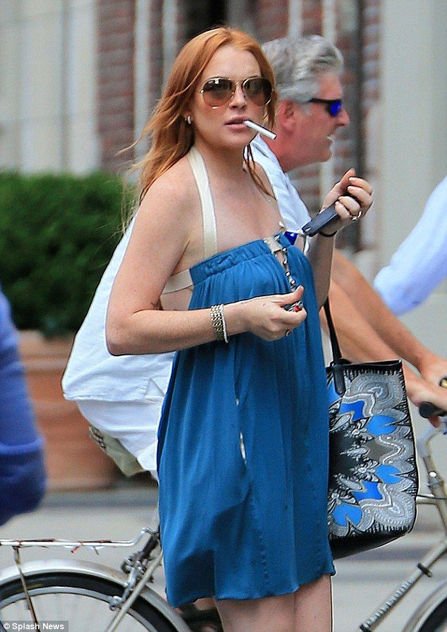 We're just high on life now, promise! Lindsay Lohan wears ...
