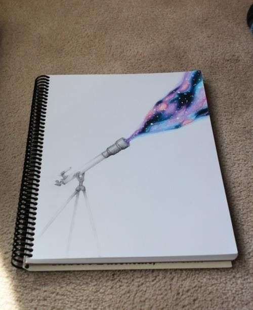 I know that a lot of you have seen this but ... it's still AMAZING ! Love galaxy drawings
