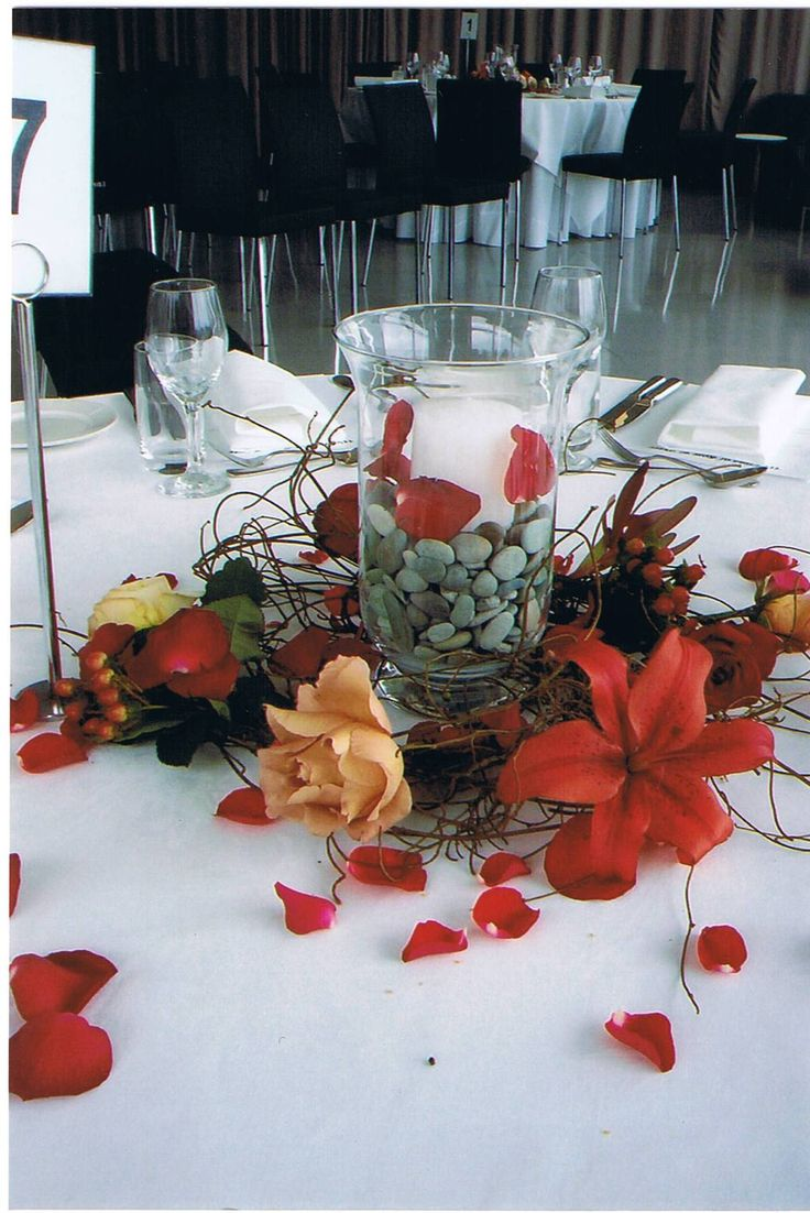 We would like to echo the stones and the sea of Lorne in the table centres...