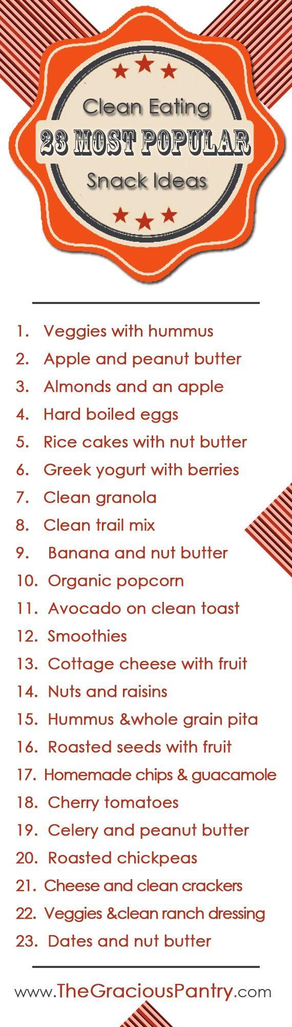 23 Healthy Snack Ideas