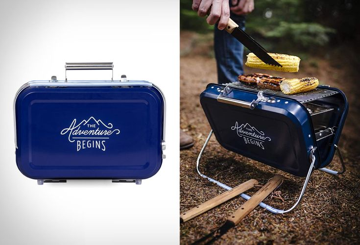 Portable Suitcase Barbecue