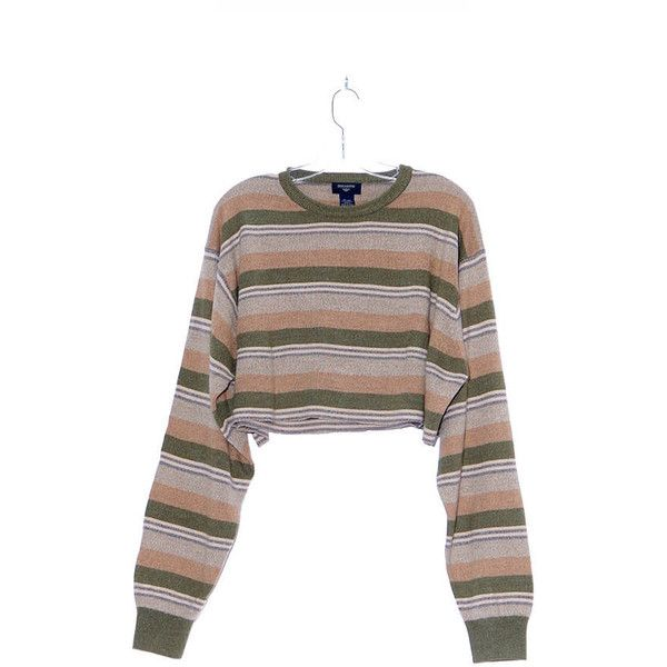 90s STRIPED CROP TOP 90s grunge kurt Cobain nirvana cropped sweater... ($68) ❤ liked on Polyvore featuring tops, sweaters, stripe sweaters, oversized white sweater, lightweight sweaters, white sweater and knit crop top