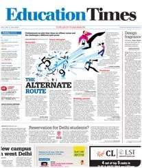 Education Times Ad Rates. Times of India Newspaper.